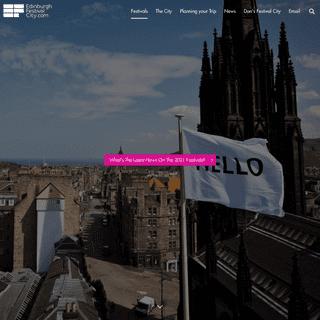 Edinburgh Festival City - The World`s Leading Festival City