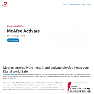 McAfee Activate - WWW.MCAFEE.COM-ACTIVATE - Enter Product Key