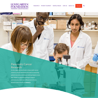 Home - Lustgarten Foundation- Pancreatic Cancer Research