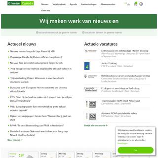 GroeneRuimte- nieuws en vacatures over groene ruimte, landelijk gebied, ruimtelijk beleid, recreatie en groenvoorziening