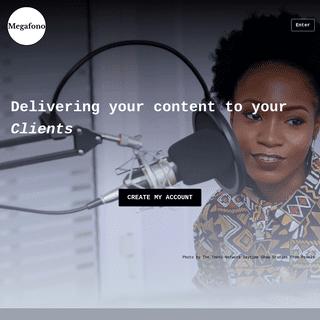 Create your podcast - Megafono
