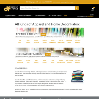 Discount Fabric for Apparel and Home Decorating Discount Fabrics