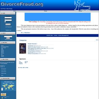 DivorceFraud.org - Article
