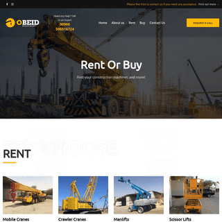 Obeid Machinery – Specialists in trading Mobile cranes