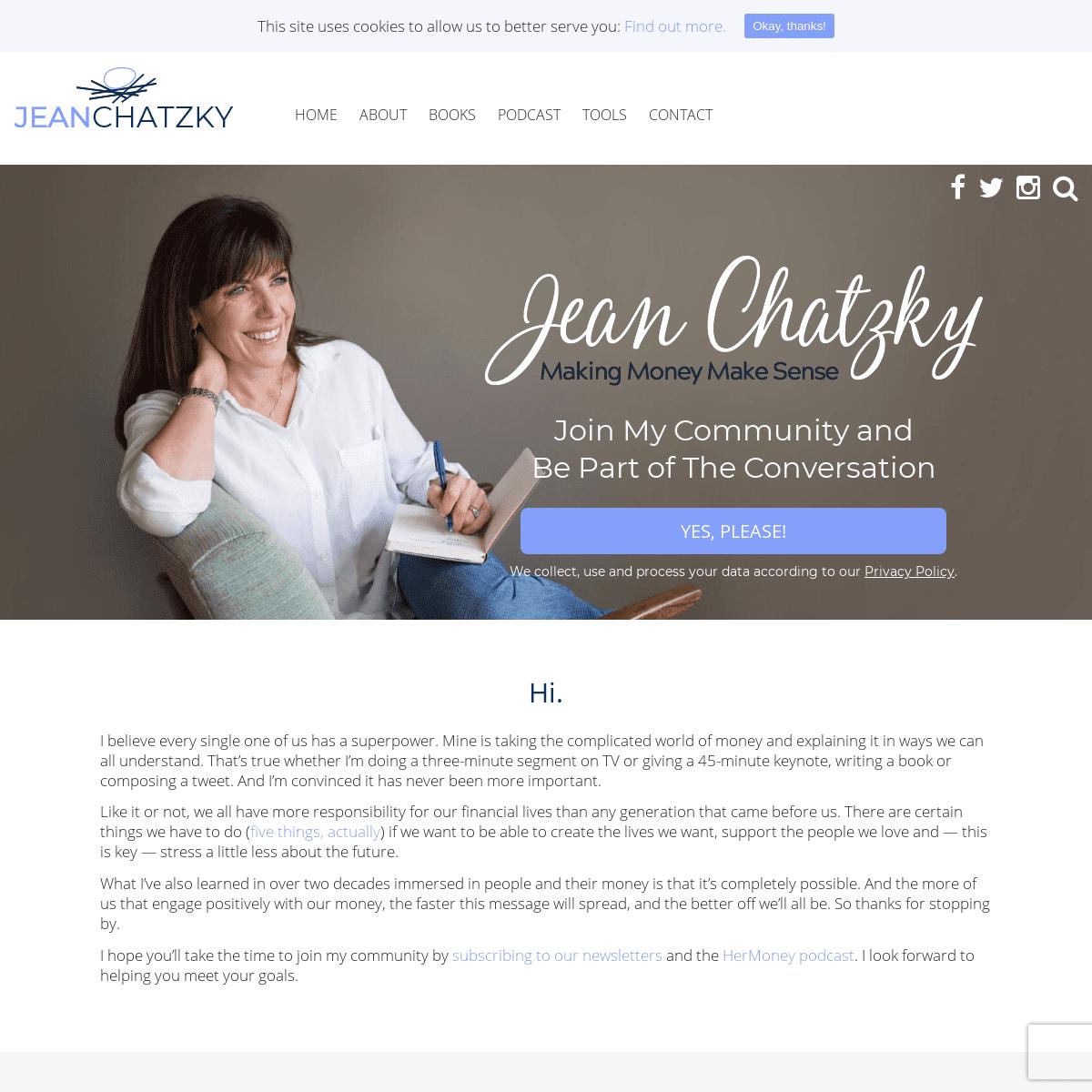 Jean Chatzky - Making Money Make Sense