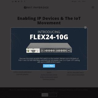 NVT Phybridge - Enabling the IoT with Power over Ethernet Technology