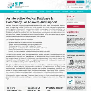 911mg Medical News, Equipment, and Health Information Portal