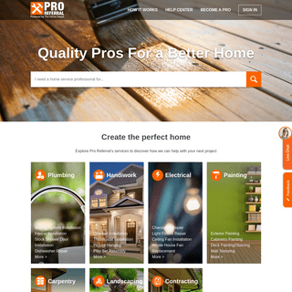 Quality Pros For A Better Home - Pro Referral