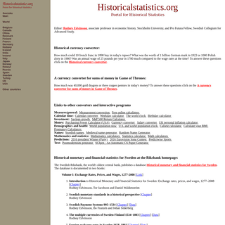 Historia.se - Historicalstatistics.org