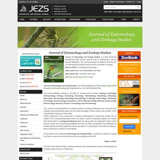 Entomology Journal - Journal of Entomology and Zoology Studies