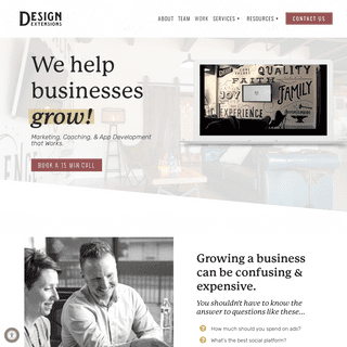 Digital Marketing & Web Design in St. Augustine & Jacksonville, FL - Design Extensions