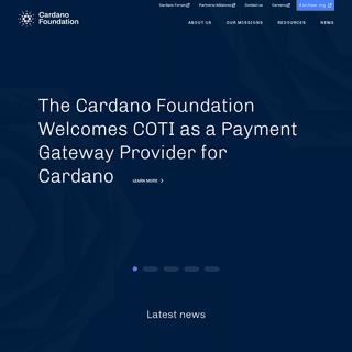 Cardano Foundation - Home