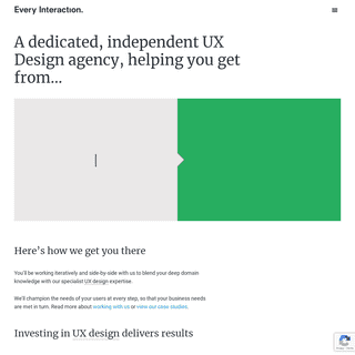 UX design agency. Apps, Products, Service Design - Every Interaction