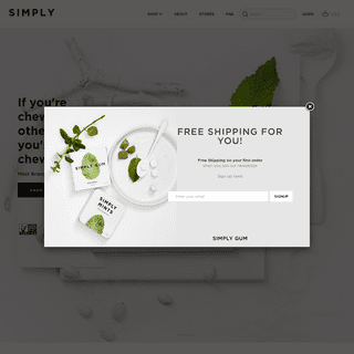 Simply Gum Natural Chewing Gum and Mints