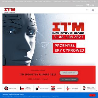 ITM Industry Europe - 31.08-3.09.2021 - Poznań