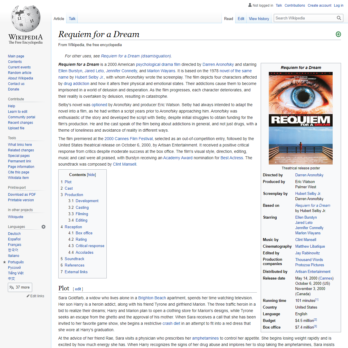 Requiem for a Dream - Wikipedia
