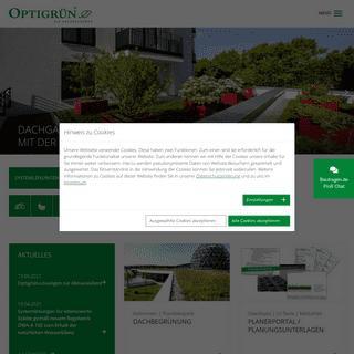 Gründach-Systeme & Regenwassermanagement - Optigrün Dachbegrünungen