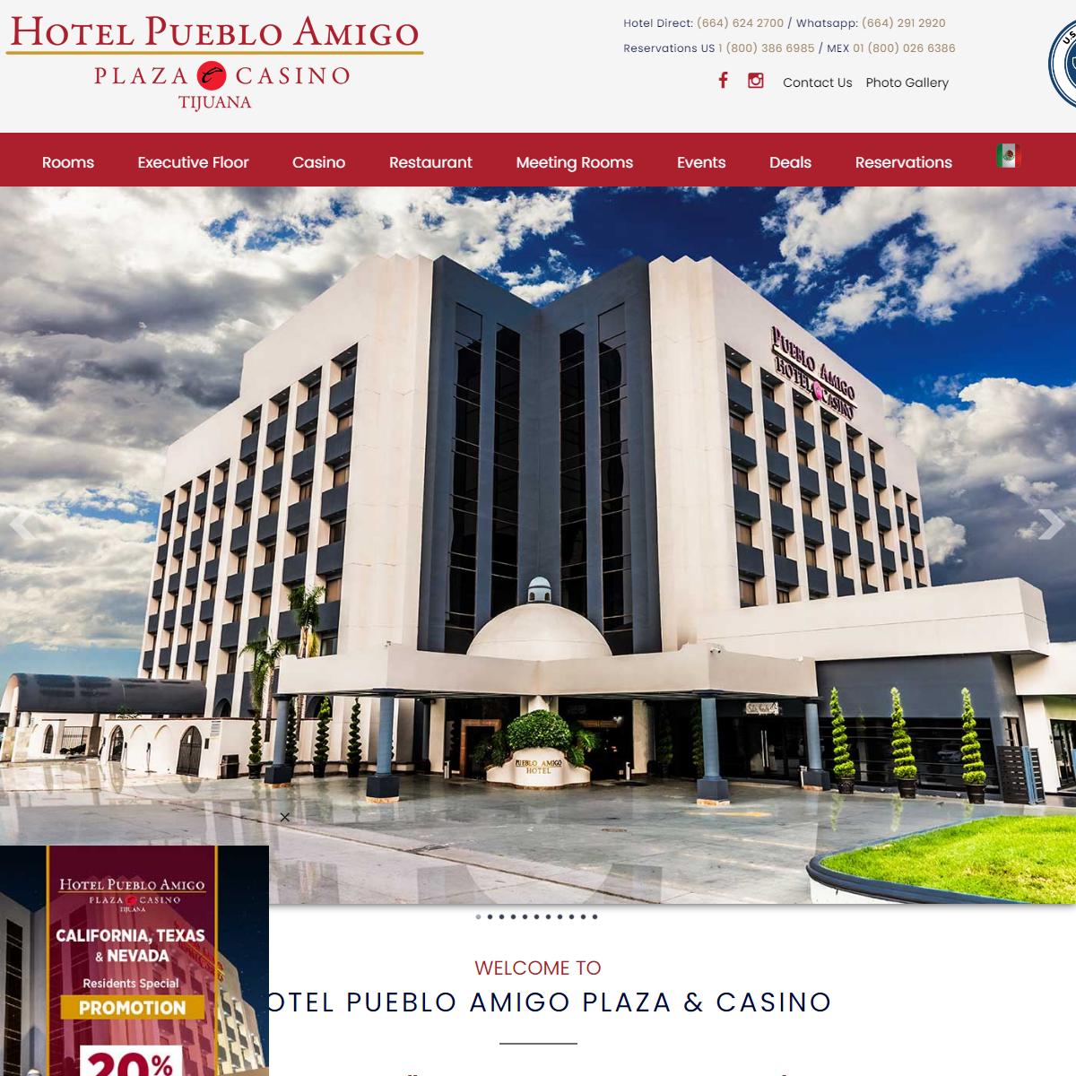 Hotel en Tijuana - Hotel Pueblo Amigo Plaza & Casino