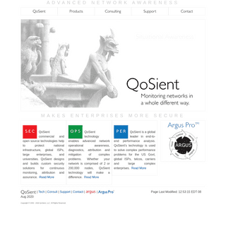 QoSient - Network Situational Awareness