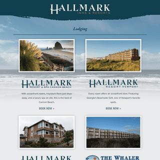 Hallmark Resorts - Cannon Beach & Newport Hotels, Restaurants, Spa & Hospitality Services