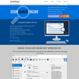 Zoom Website Search Engine - Add search script to a website