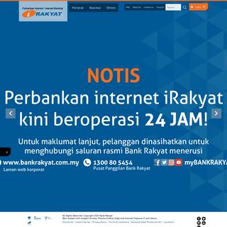 Welcome to Bank Rakyat » Perbankan Internet - Internet Banking
