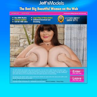 Jeff Models - BBW big tits fat women plumpers thick girls - members porn site