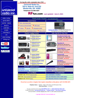 Universal Radio shortwave, amateur, scanner and CB radio since 1942