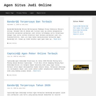 Agen Situs Judi Online - My WordPress Blog