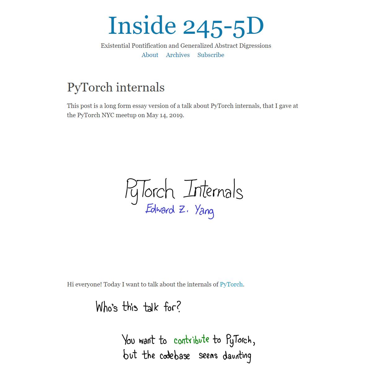 PyTorch internals - Inside 245-5D