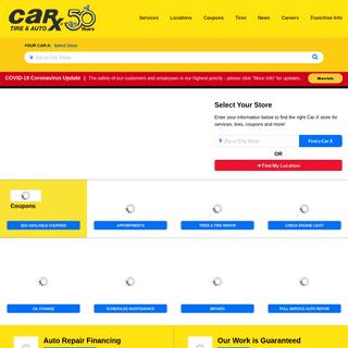 CAR-X - Auto Repair, Oil Change, Tires, Brakes, Scheduled Maintenance
