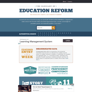 The Glossary of Education Reform -