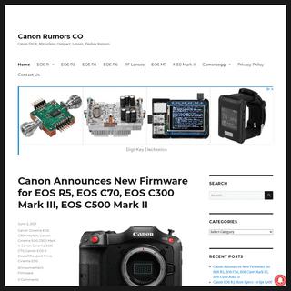 Canon Rumors CO – Canon DSLR, Mirrorless, Compact, Lenses, Flashes Rumors