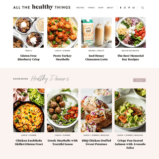 Healthy Living Blog - Simple, Easy, and Quick Recipes - Healthy Eating Lifestyle - All the Healthy Things