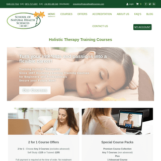 Holistic Therapy Training Courses - School of Natural Health Sciences