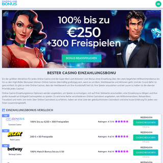 Einzahlungsbonus - Beste Online Casinos für deutsche Spieler