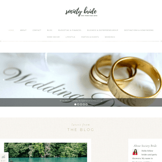 Society Bride – Bridal. Lifestyle. Budget. Parties