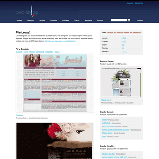 CreateBlog- Myspace Layouts, Hi5 Layouts, Friendster Layouts, Xanga Layouts, Myspace Tracker