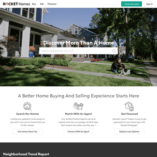 Find Your Dream Home - Get a Real Estate Agent - Rocket Homes