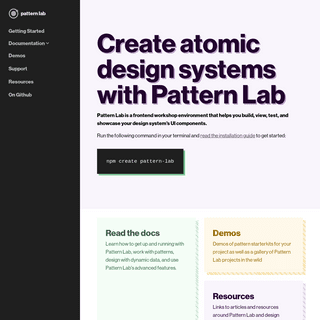 Create atomic design systems with Pattern Lab - Pattern Lab