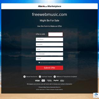 freewebmusic.com - Above.com Marketplace