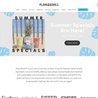 Playa Bowls Acai Shop - Acai Bowls, Pitaya Bowls, Smoothies & Juices