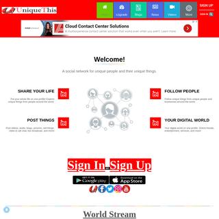 (1) UniqueThis Home Page