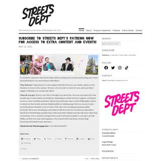 Streets Dept - Discovering art on the streets of Philadelphia (Est. 2011)