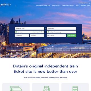 Compare & Buy Cheap Train Tickets + Split Ticketing - raileasy.co.uk