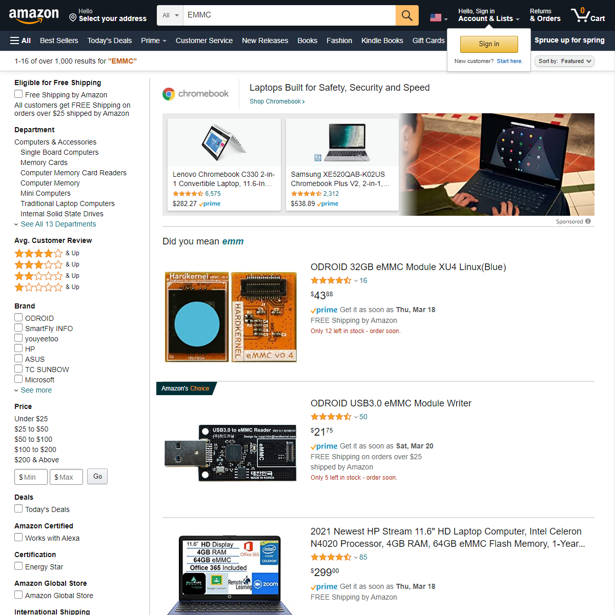 Amazon.com - EMMC