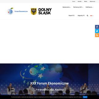 Forum Ekonomiczne – Instytut Wschodni - Forum Ekonomiczne - Economic Forum
