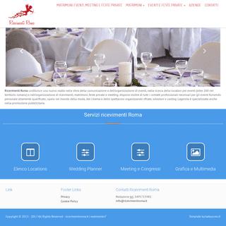 Matrimoni, eventi, meeting e feste private - ricevimenti roma
