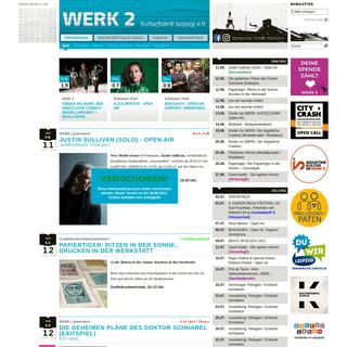 WERK 2 Leipzig - Programm im Juni