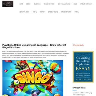Spbobet - Play Bingo Games - Know Different Bingo Variations